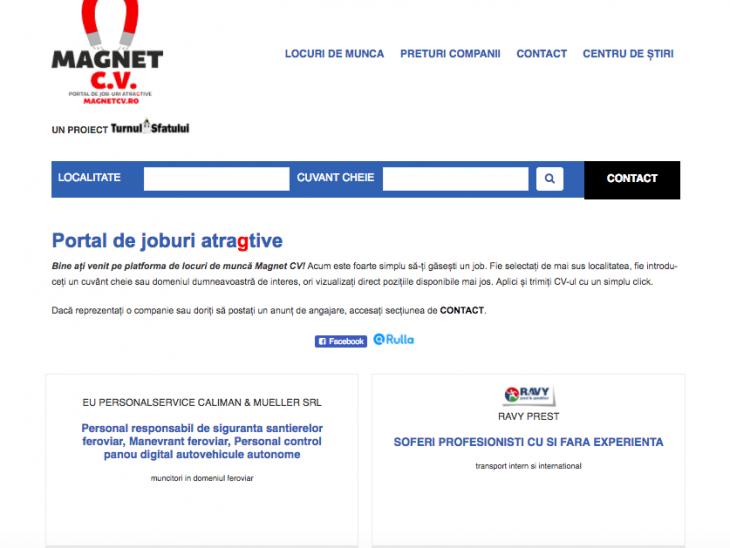Sute de locuri de muncă disponibile pe Magnet CV